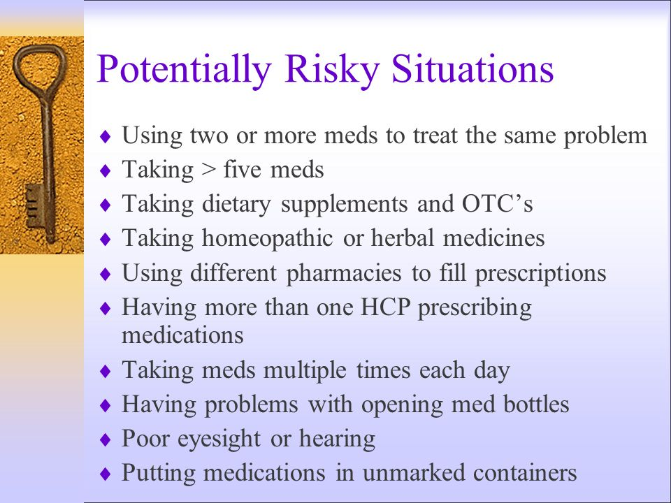 Potentially Risky Situations