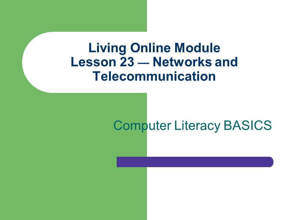 living online module lesson 23 — networks and telecommunication, Powerpoint templates