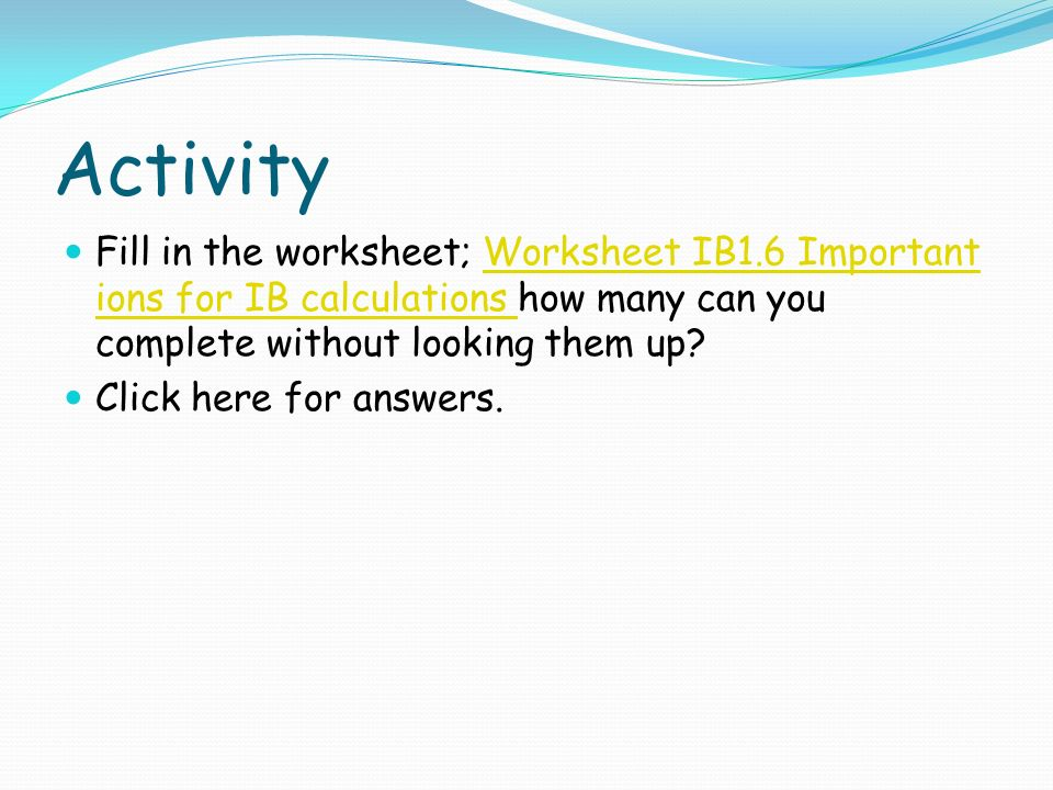 Clock Practice Worksheet Pdf Quantitative Chemistry  Ppt Download Building Self Esteem Worksheets Word with Spanish Free Worksheets Pdf Activity Fill In The Worksheet Worksheet Ib Important Ions For Ib  Calculations How Counting Practice Worksheet Word