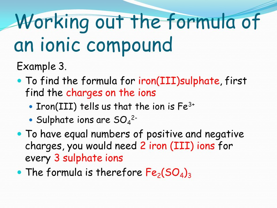 how to work out formula of compound