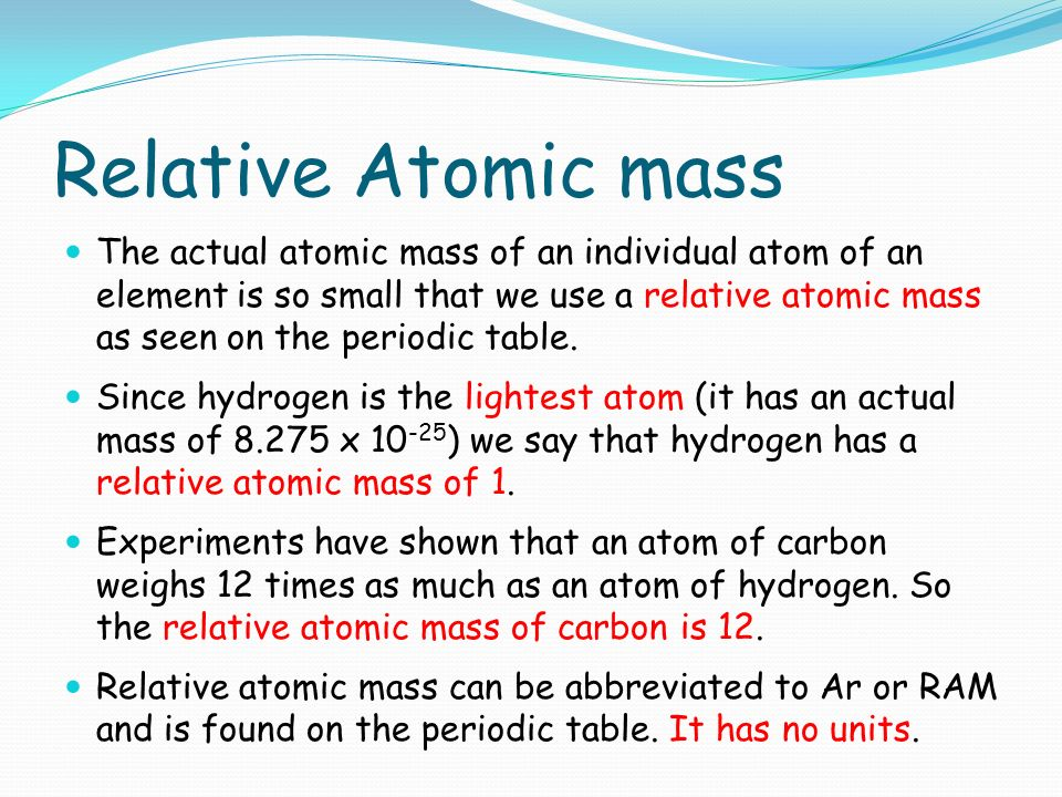Quantitative chemistry ppt download relative atomic mass urtaz Image collections