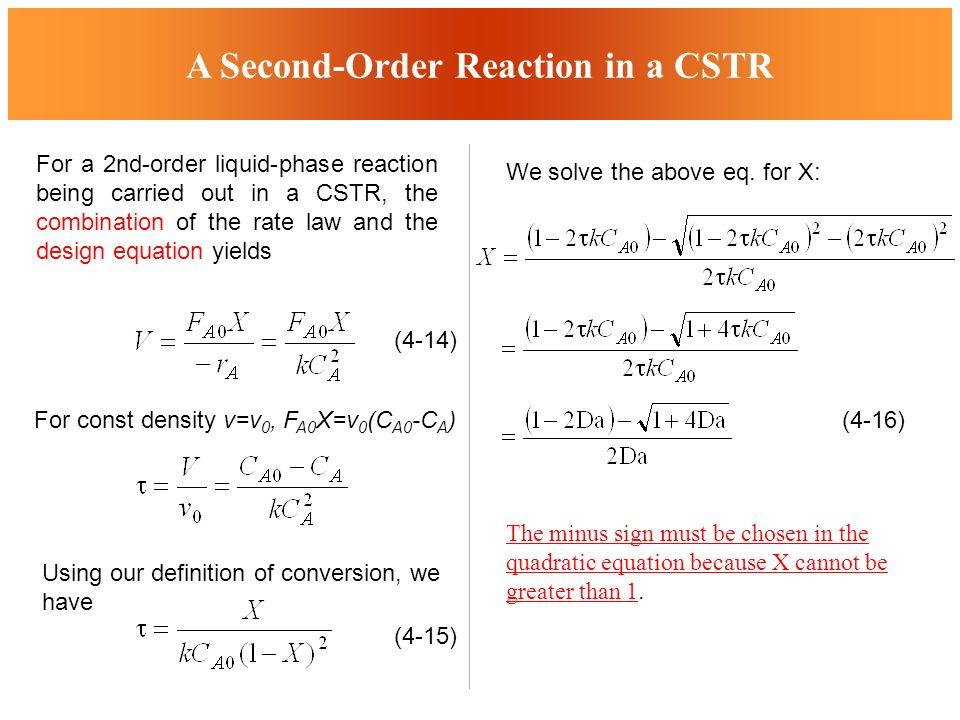 Cstr design equation jennarocca for Chemistry reaction calculator fort de france