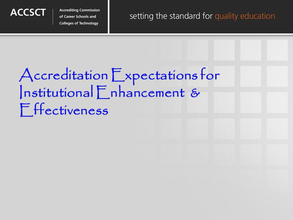 Accreditation Expectations for Institutional Enhancement & Effectiveness