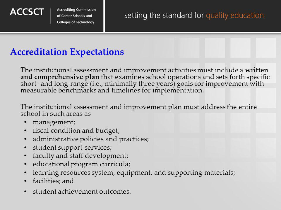 Accreditation Expectations