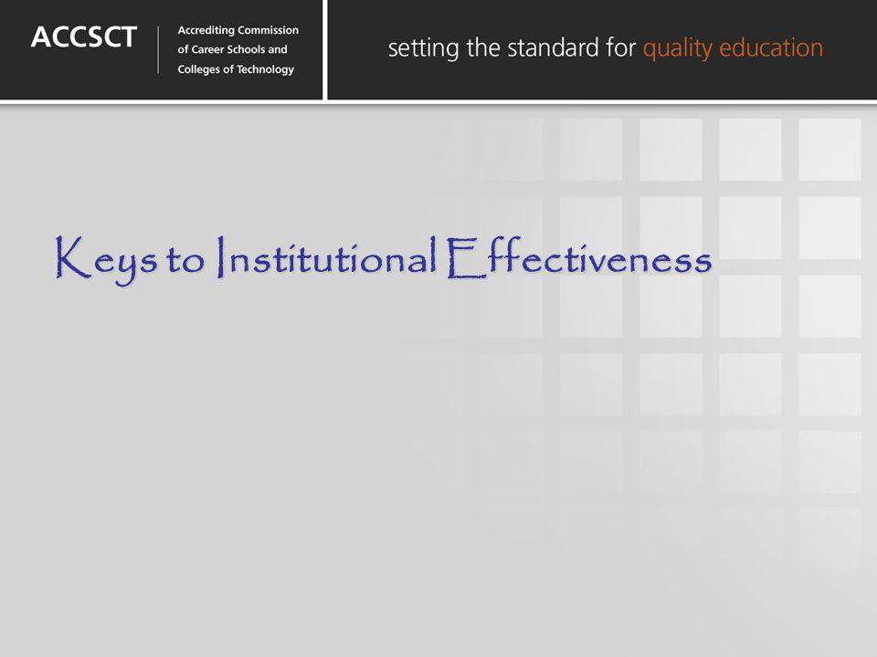 Keys to Institutional Effectiveness