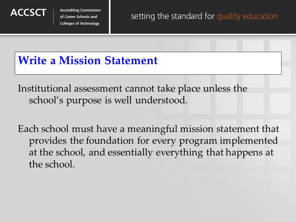 Write a Mission Statement