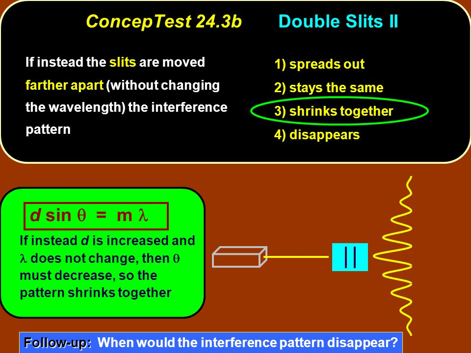 ConcepTest 24.3b Double Slits II