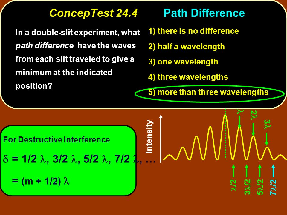 ConcepTest 24.4 Path Difference