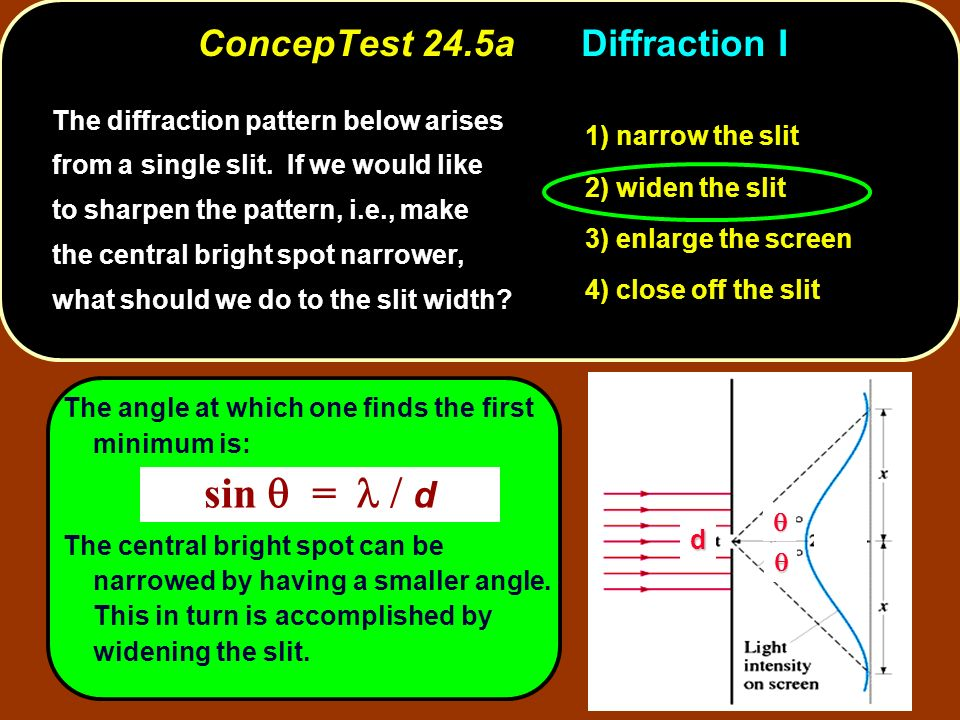 ConcepTest 24.5a Diffraction I