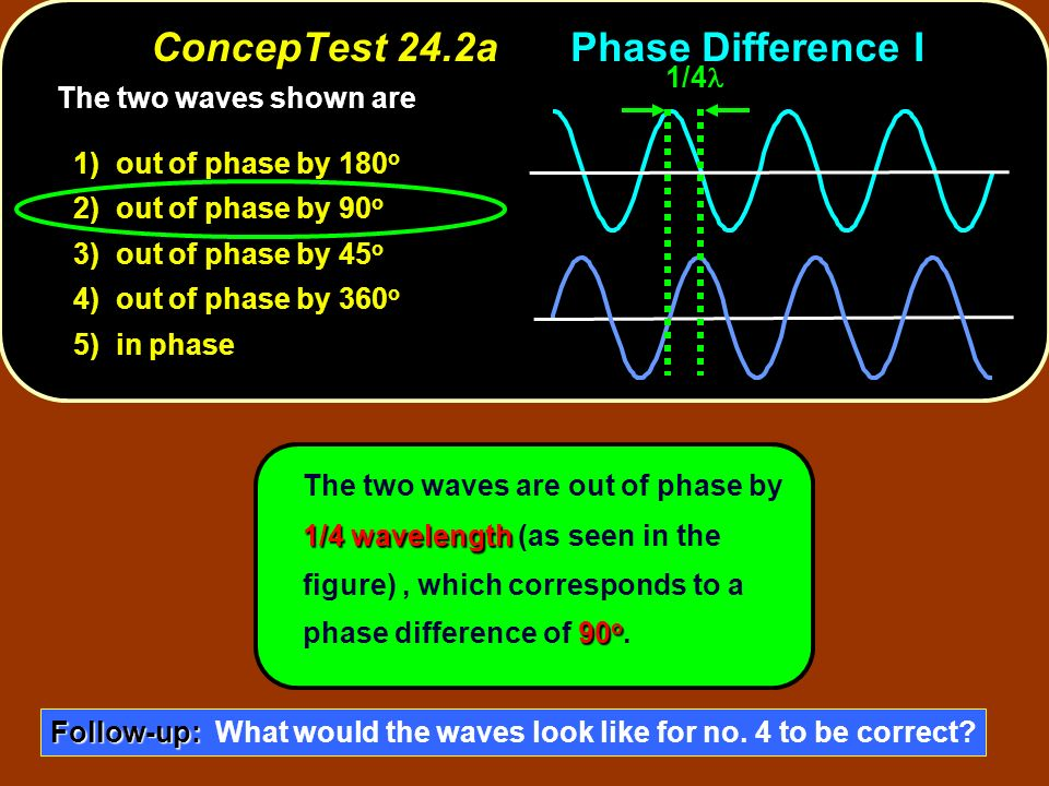 ConcepTest 24.2a Phase Difference I