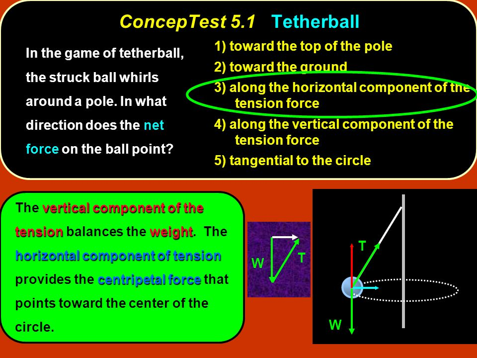ConcepTest 5.1 Tetherball