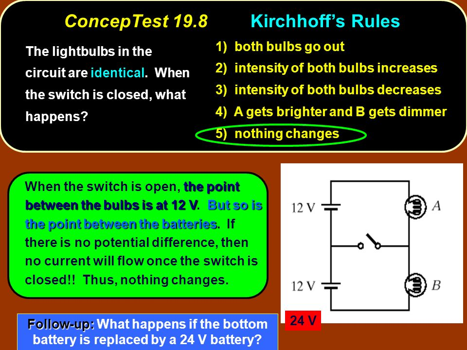 ConcepTest 19.8 Kirchhoff's Rules