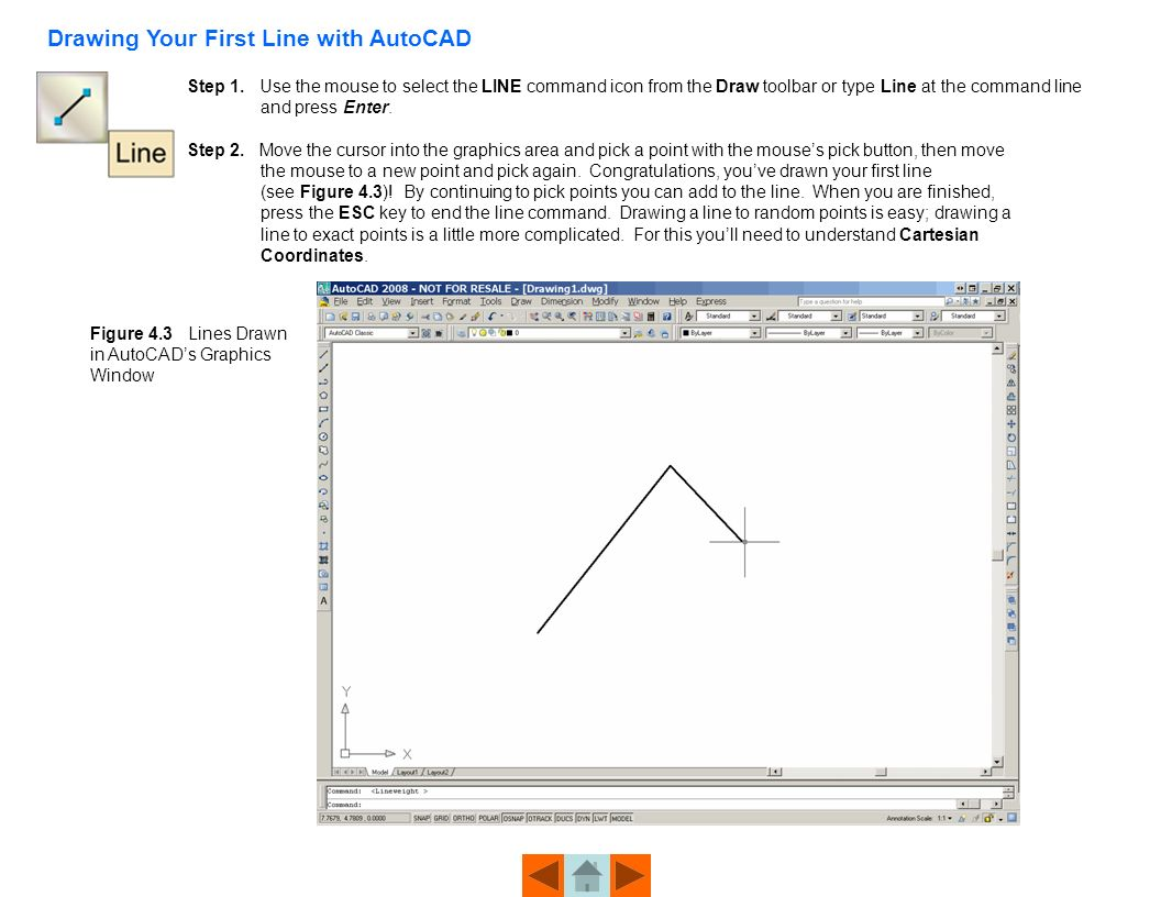 Drawing Lines In Autocad Using Coordinates : Beginning an autocad drawing ppt download