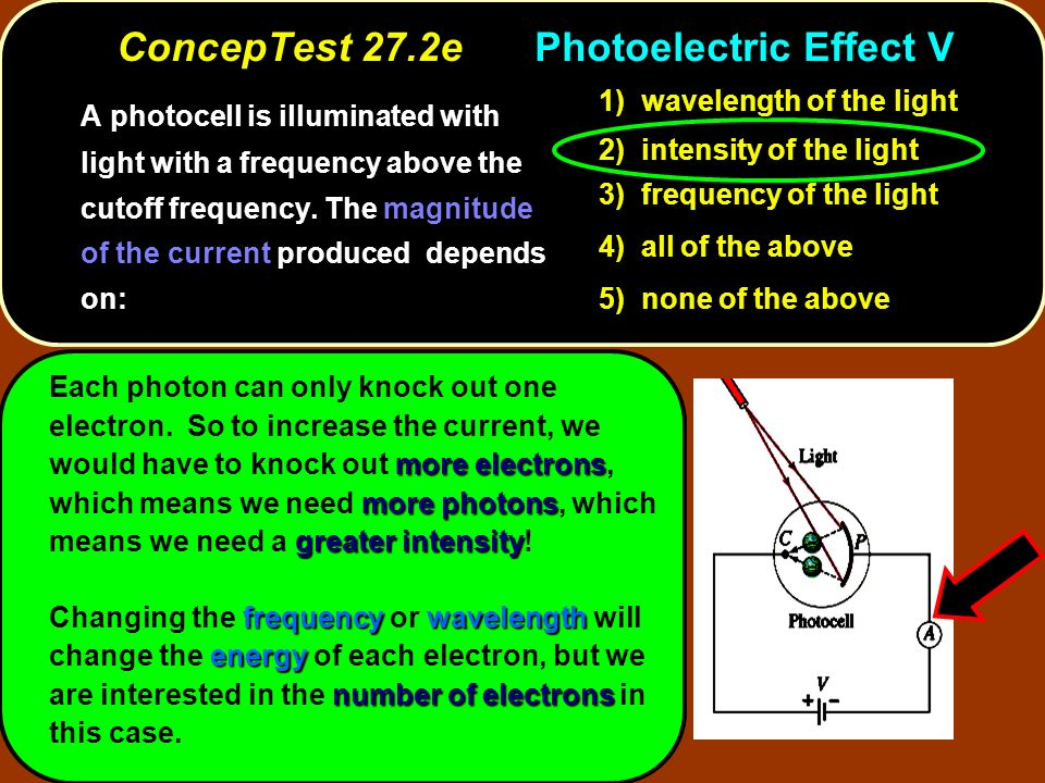ConcepTest 27.2e Photoelectric Effect V