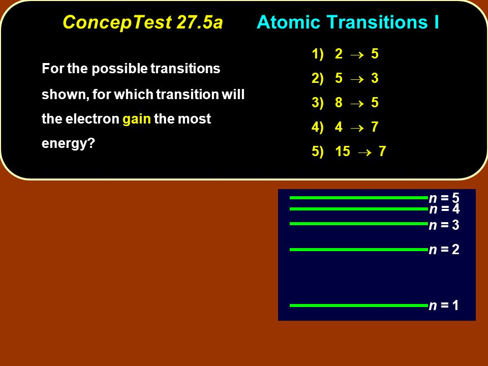 ConcepTest 27.5a Atomic Transitions I
