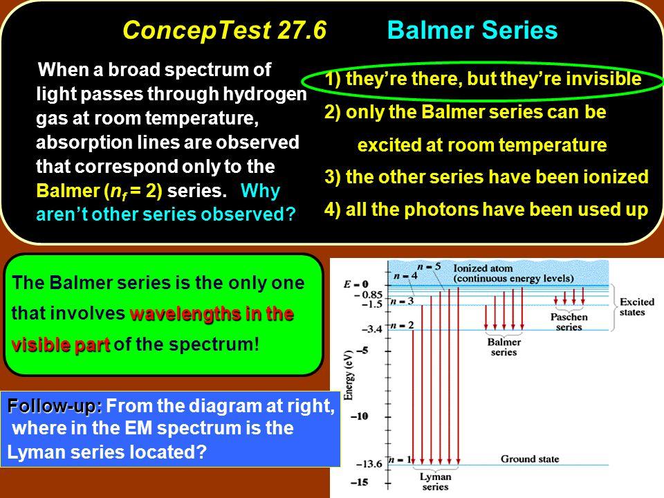 ConcepTest 27.6 Balmer Series