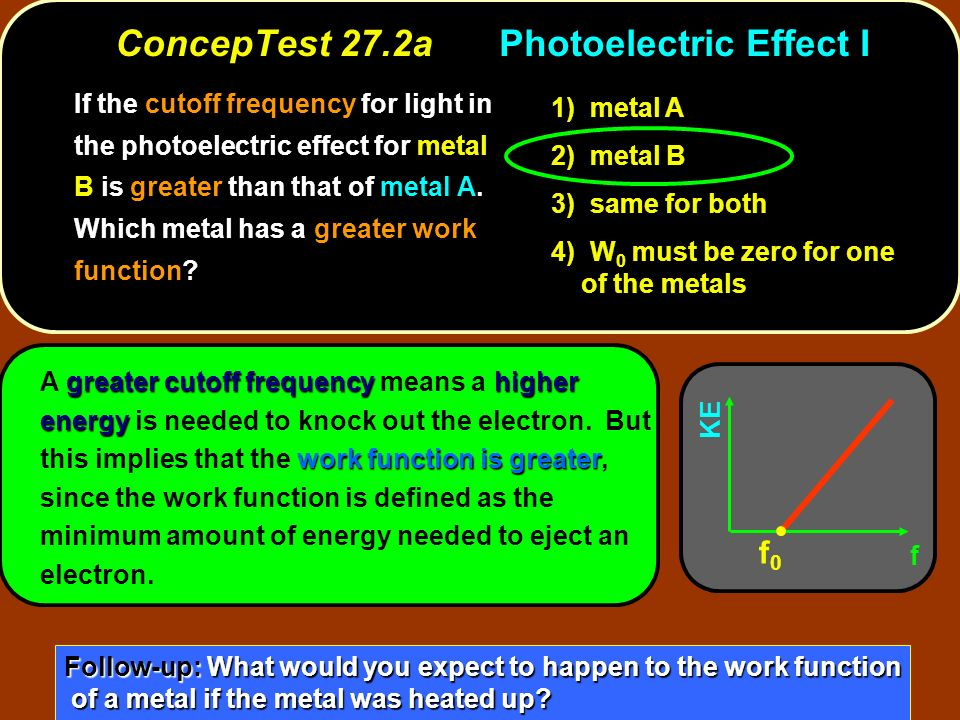 ConcepTest 27.2a Photoelectric Effect I