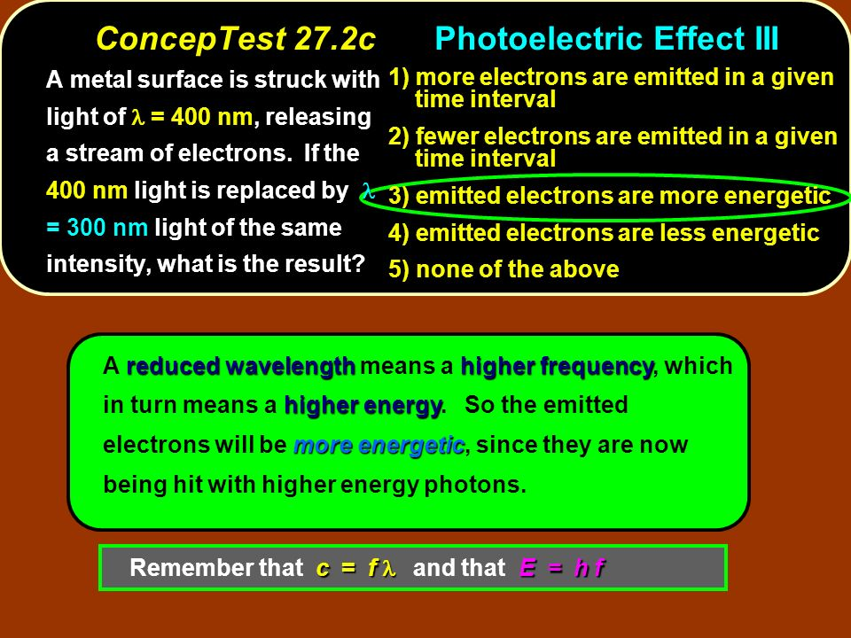 ConcepTest 27.2c Photoelectric Effect III