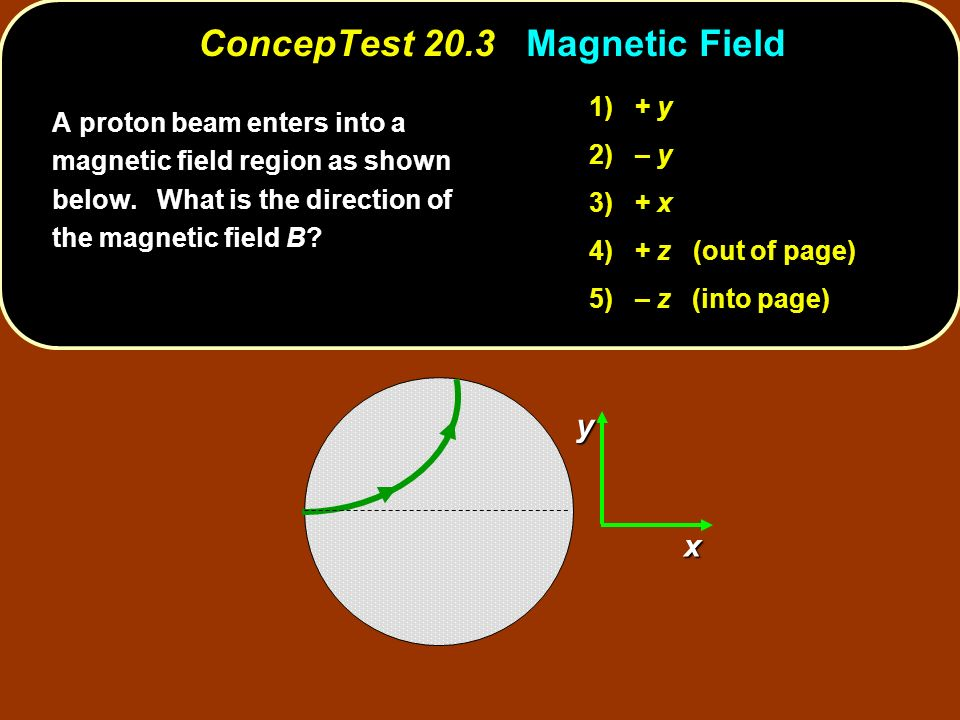 ConcepTest 20.3 Magnetic Field