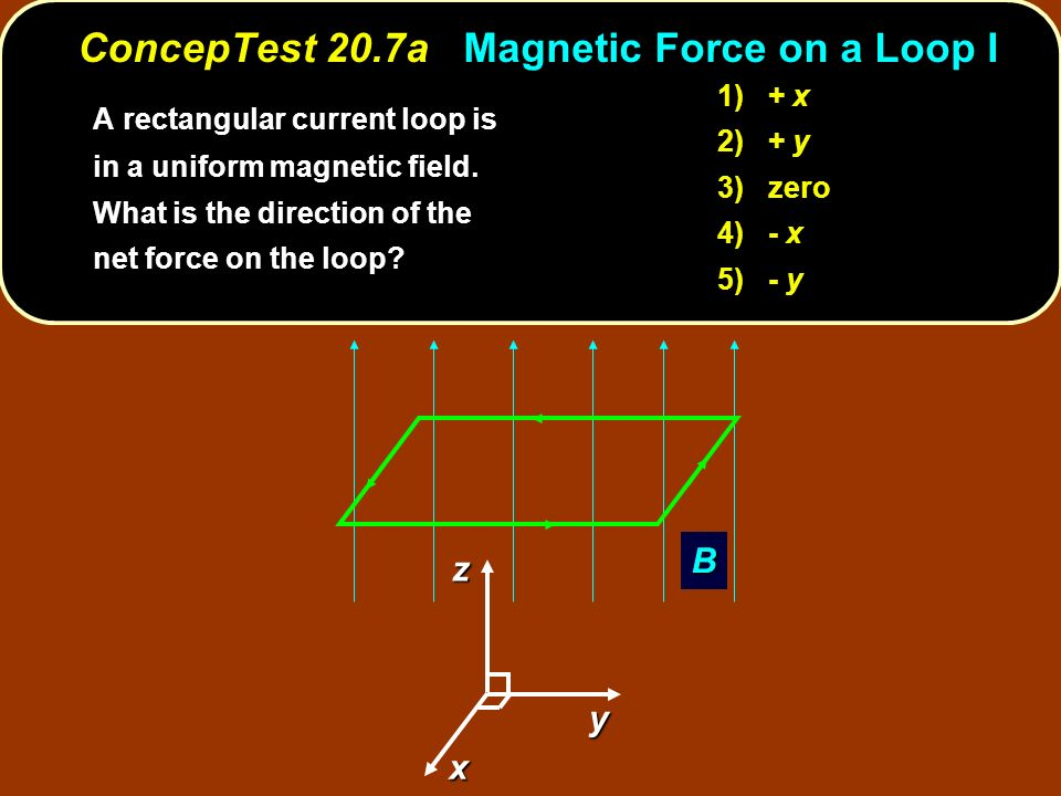 ConcepTest 20.7a Magnetic Force on a Loop I