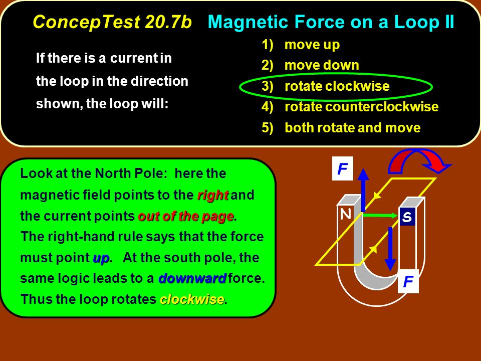 ConcepTest 20.7b Magnetic Force on a Loop II