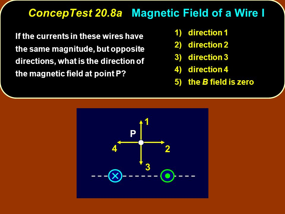 ConcepTest 20.8a Magnetic Field of a Wire I