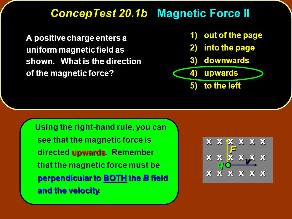 ConcepTest 20.1b Magnetic Force II
