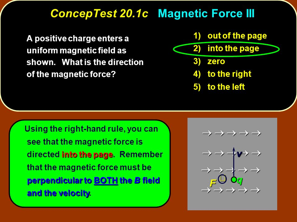 ConcepTest 20.1c Magnetic Force III