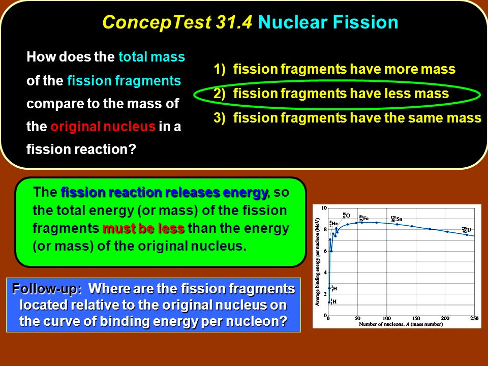 ConcepTest 31.4 Nuclear Fission