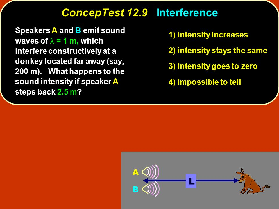 ConcepTest 12.9 Interference