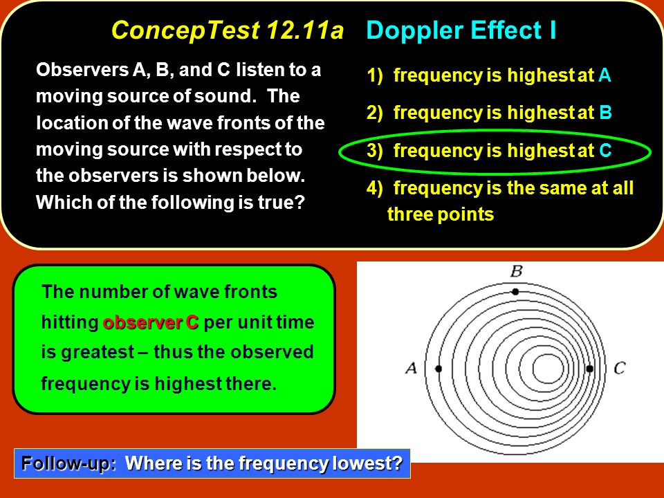 ConcepTest 12.11a Doppler Effect I