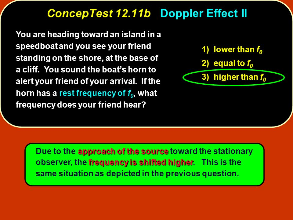 ConcepTest 12.11b Doppler Effect II