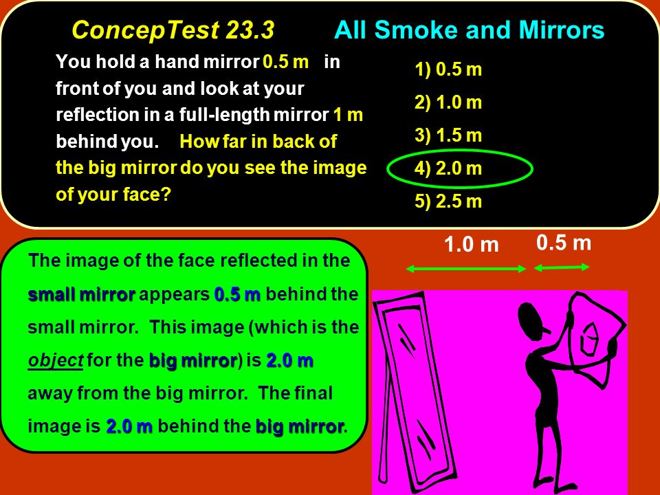 ConcepTest 23.3 All Smoke and Mirrors