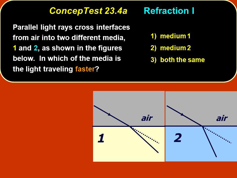 ConcepTest 23.4a Refraction I