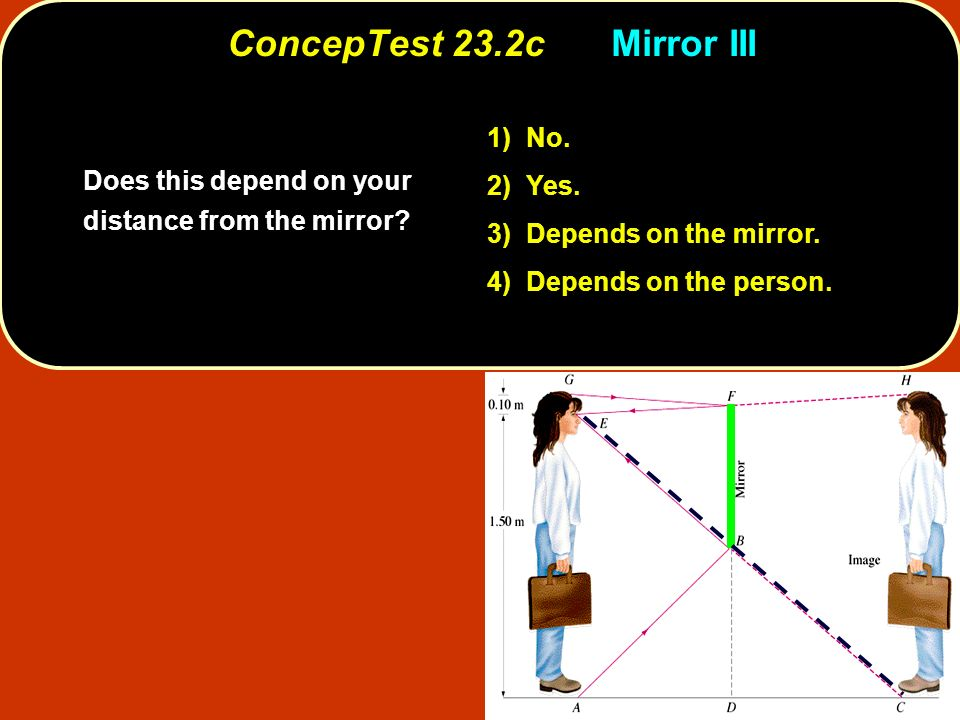ConcepTest 23.2c Mirror III