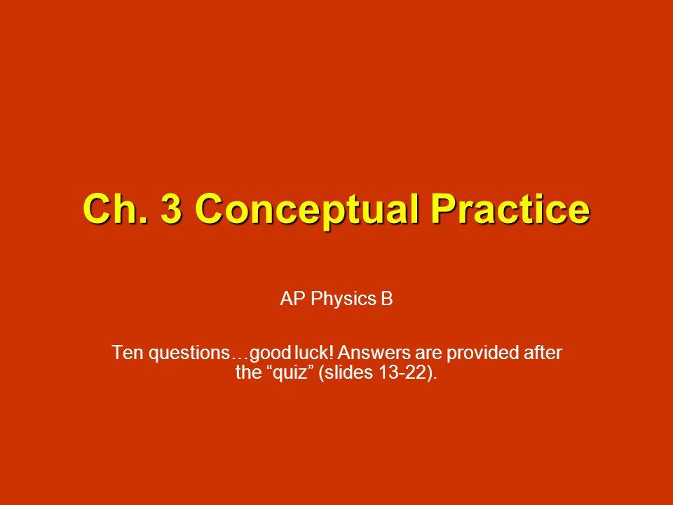 Ch. 3 Conceptual Practice