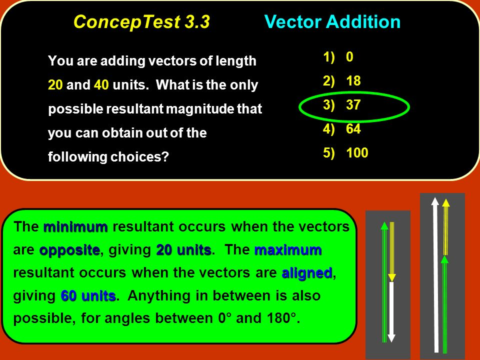 ConcepTest 3.3 Vector Addition
