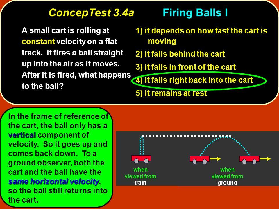 ConcepTest 3.4a Firing Balls I