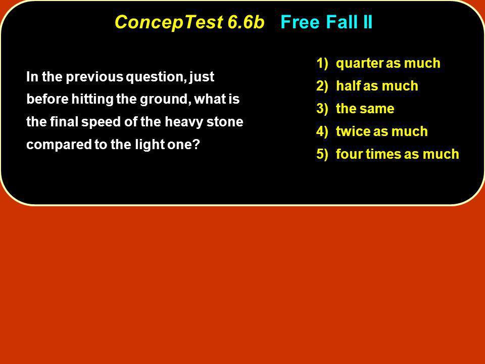 ConcepTest 6.6b Free Fall II