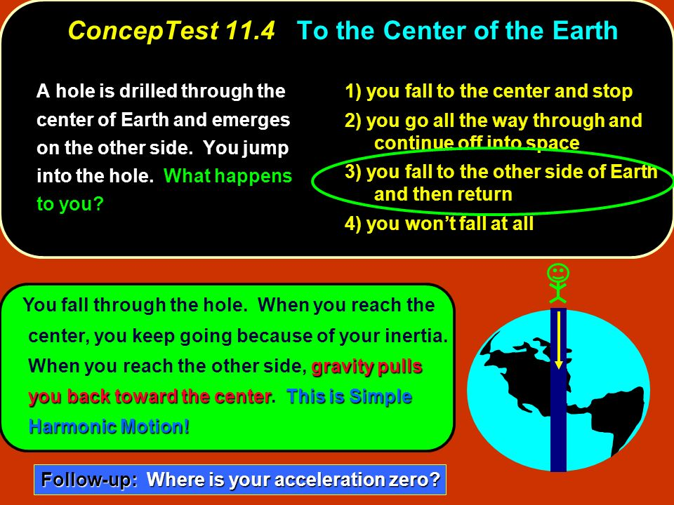 ConcepTest 11.4 To the Center of the Earth