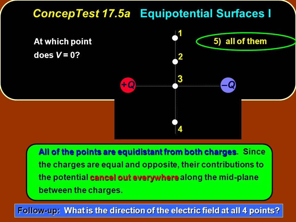 ConcepTest 17.5a Equipotential Surfaces I