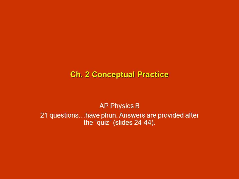Ch. 2 Conceptual Practice