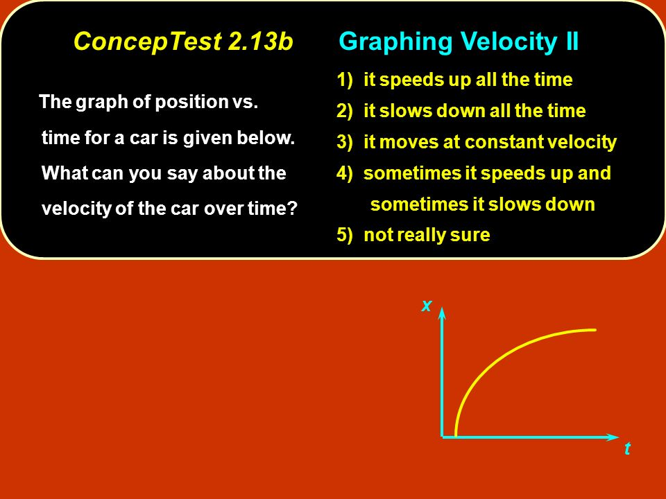 ConcepTest 2.13b Graphing Velocity II