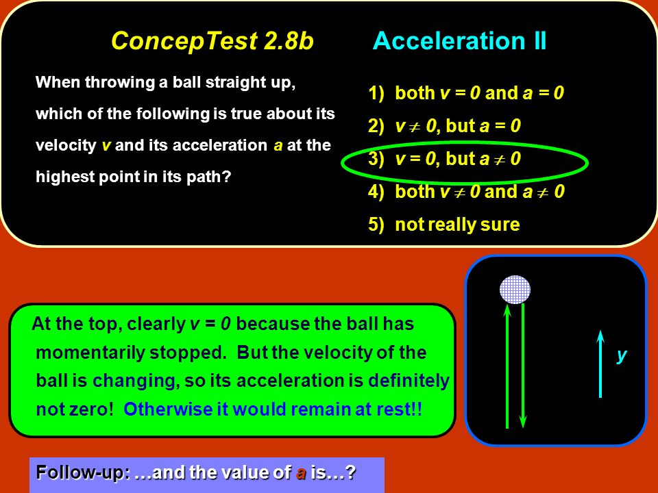 ConcepTest 2.8b Acceleration II