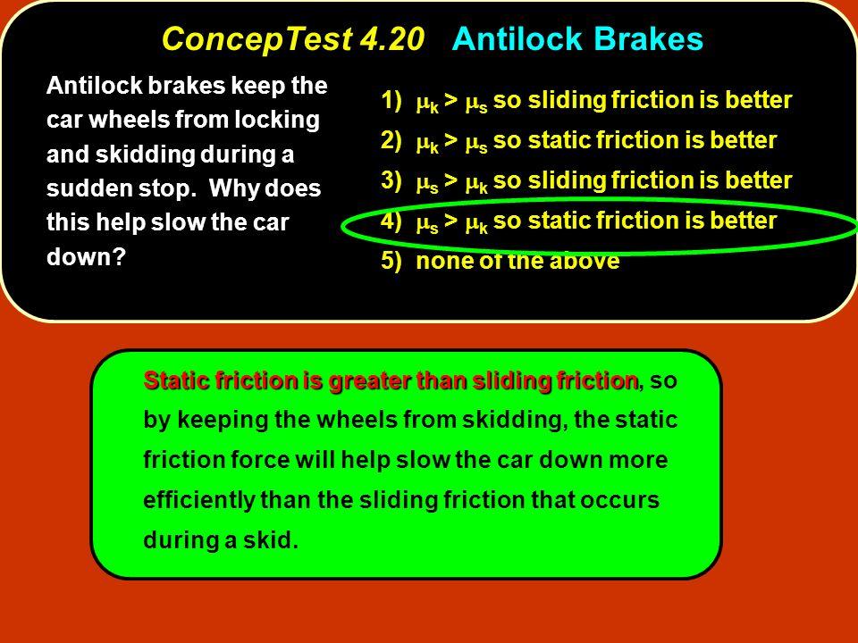 ConcepTest 4.20 Antilock Brakes
