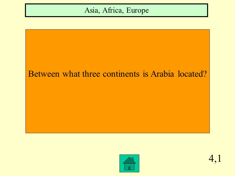 Between what three continents is Arabia located