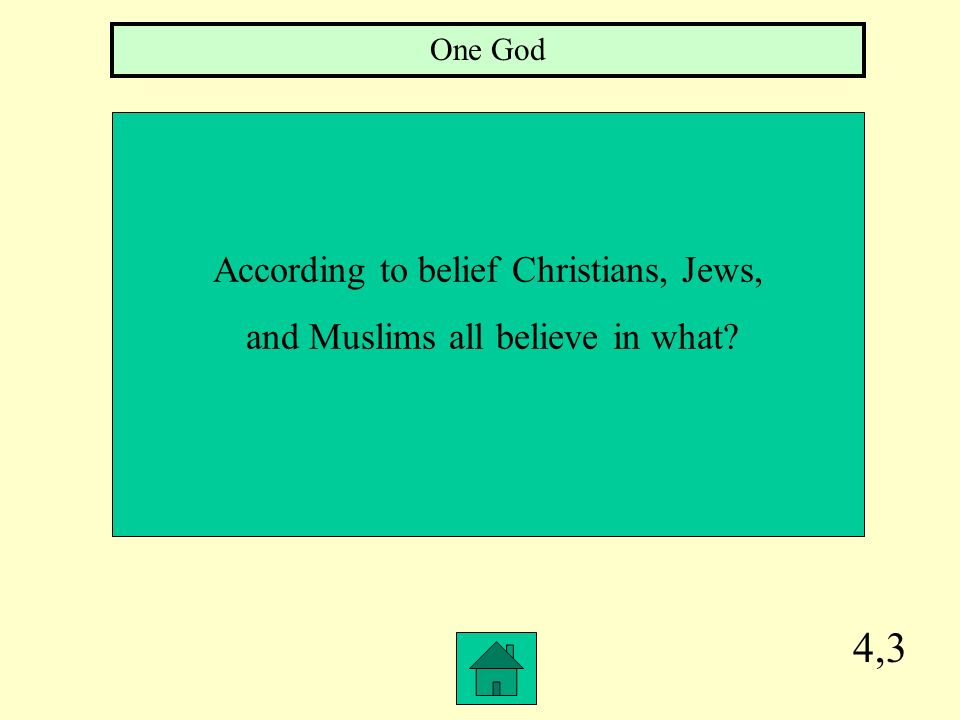 4,3 According to belief Christians, Jews,
