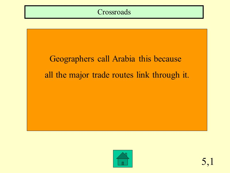 5,1 Geographers call Arabia this because
