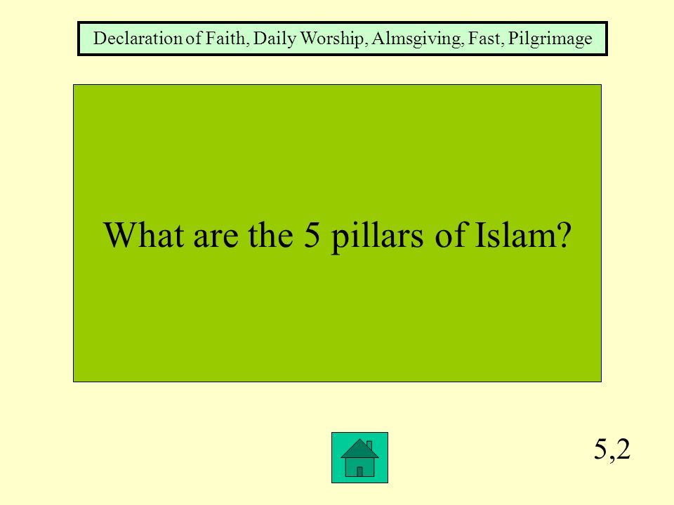 What are the 5 pillars of Islam