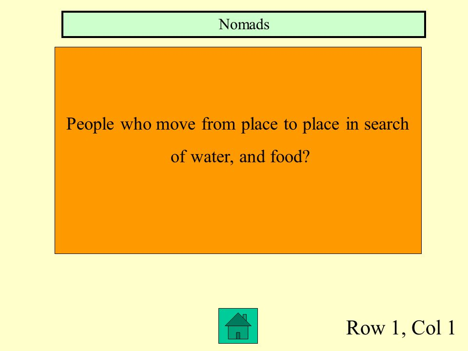 People who move from place to place in search